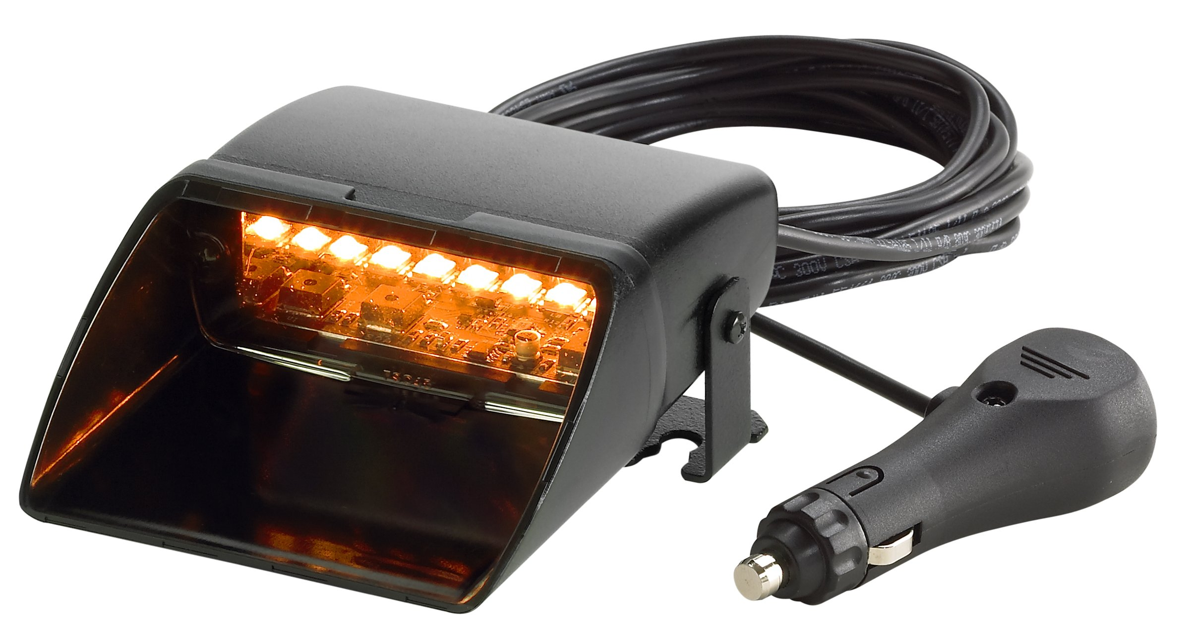 Federal Signal 329000-2 Viper S2 LED Interior Mount Warning Light, Single-Head with Cigarette Plug