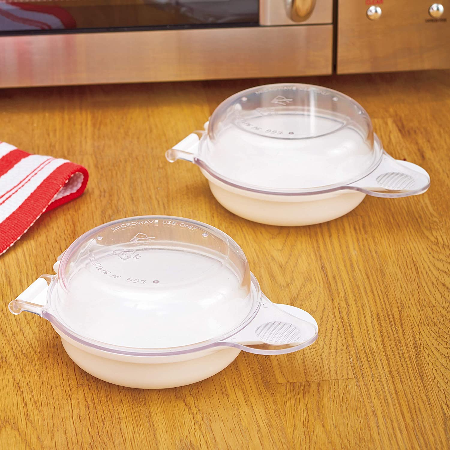 Microwave Egg Cooker - For Egg Muffin Sandwiches – Set of 2