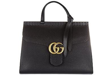 a87278137b Gucci sac à main femme en cuir marmont cellarius noir: Amazon.fr ...