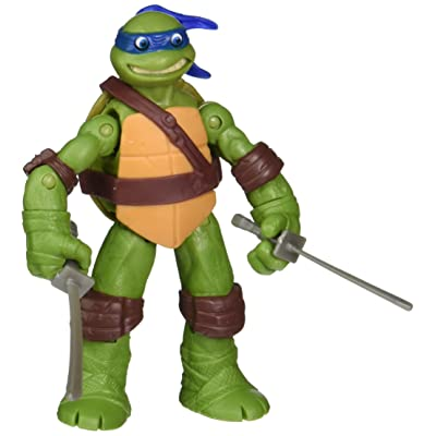 Teenage Mutant Ninja Turtles Eyes Pop Out Leonardo Action Figure: Toys & Games