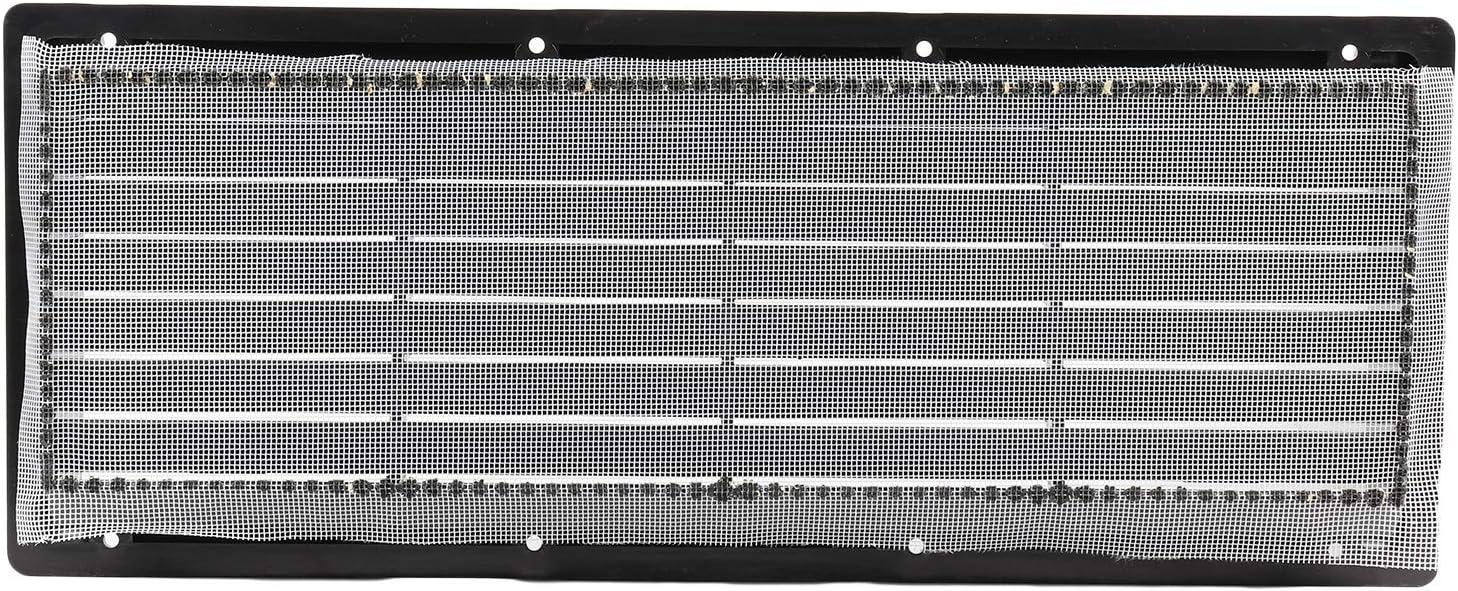 moustiquaire Grille da/ération Blanche ou Noire pour r/éfrig/érateur de Camping 37,5 x 15 cm inclin/ée