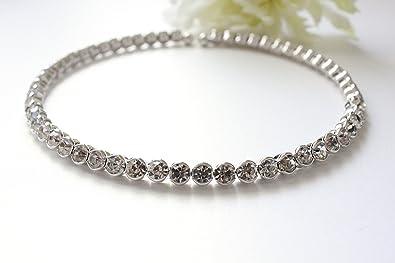 5d3be52719068 Swarovski Elements Crystal Tennis Necklace Choker
