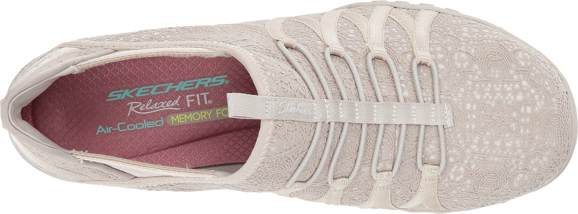 Skechers Relaxed Fit Breathe Easy Harmonia Womens Slip On Bungee Sneakers Natural 5.5 by Skechers (Image #2)