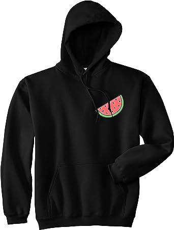 Kings Of NY Watermelon Emoji Meme Chest Mens Pullover Hoodie Hoody
