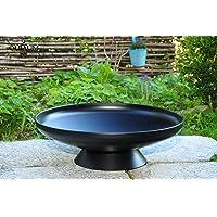 Feuerschale silber XL Stahl ✔ rund