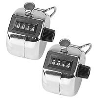 infactory Zähler: Handzähler aus Metall, 2er-Pack (Personenzähler)