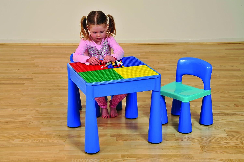 color Azul Liberty House LH899B Juego de mesa y 2 sillas infantiles