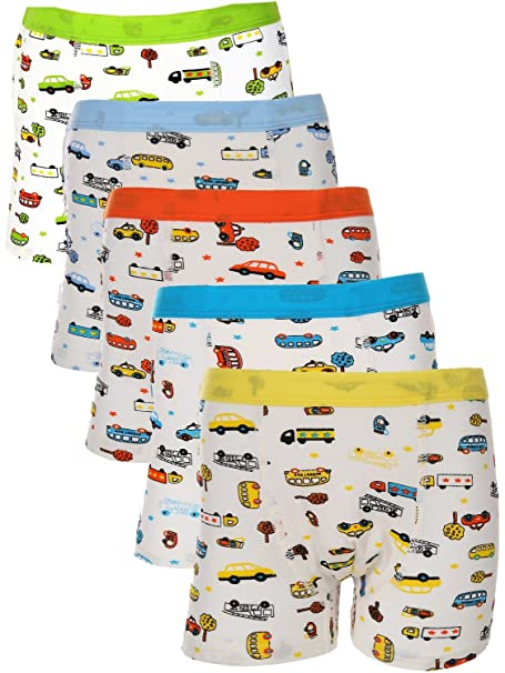 Disney Boys Cars 5 Pack Boxer Brief Toddler Boy Boxer Briefs