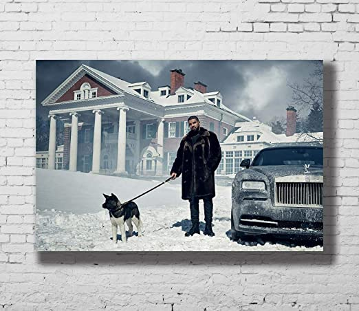 Amazon.com: 1art1 - Póster de Drake and Dog Snow Hip Hop Rap ...