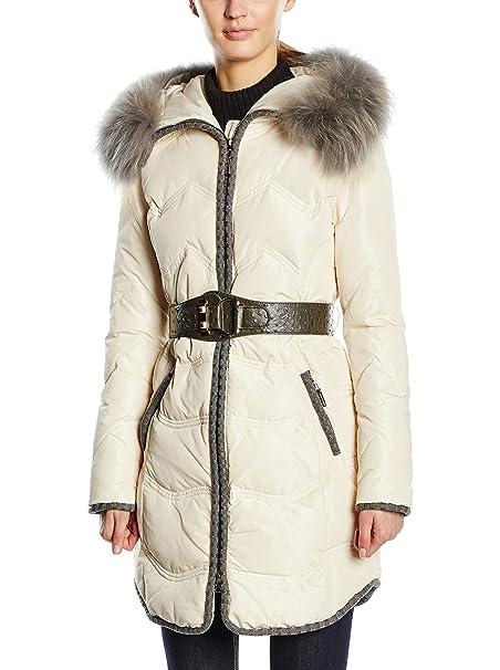 new styles 30381 cf033 RIVER SKIN Piumino Lungo Anastasia Beige 2XL: Amazon.it ...