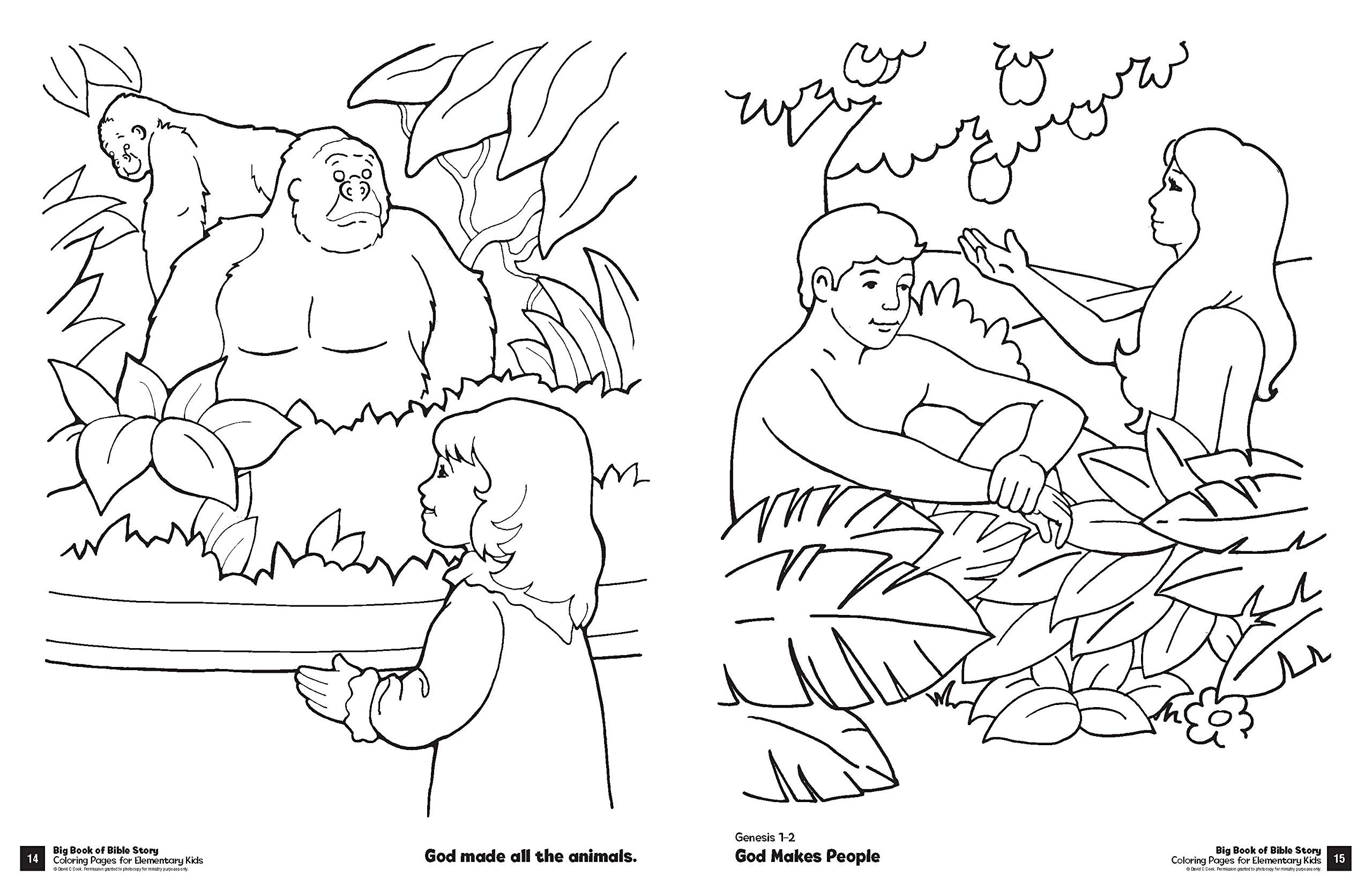 Big Book Of Bible Story Coloring Pages For Elementary Kids (Big