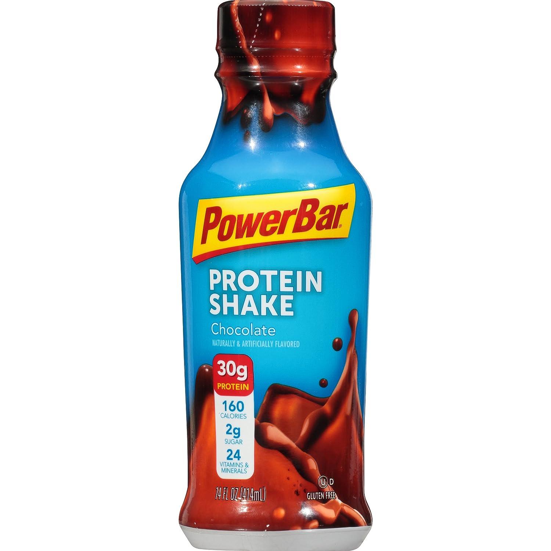 Amazon.com: PowerBar 30g Protein Shake, Chocolate, 14 fl oz Bottle, (12  Count): Health & Personal Care
