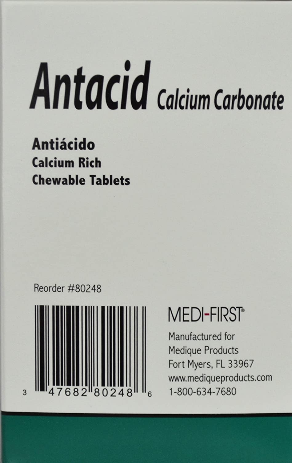Amazon.com: ANTACID Calcium Carbonate 420 mg. Tablets (250 Tab. / Box) 6 Boxes by Medique - MS71240: Health & Personal Care