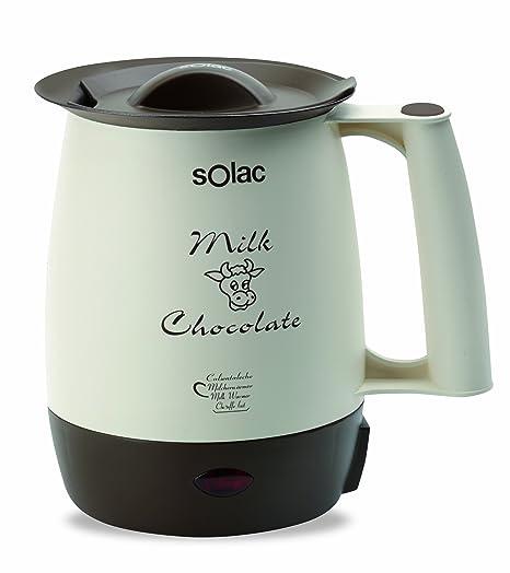 Solac 238555 Calienta leches chocolatera com filtro anti-nata, 400 W, 1 Liter, Sintético, Multicolor