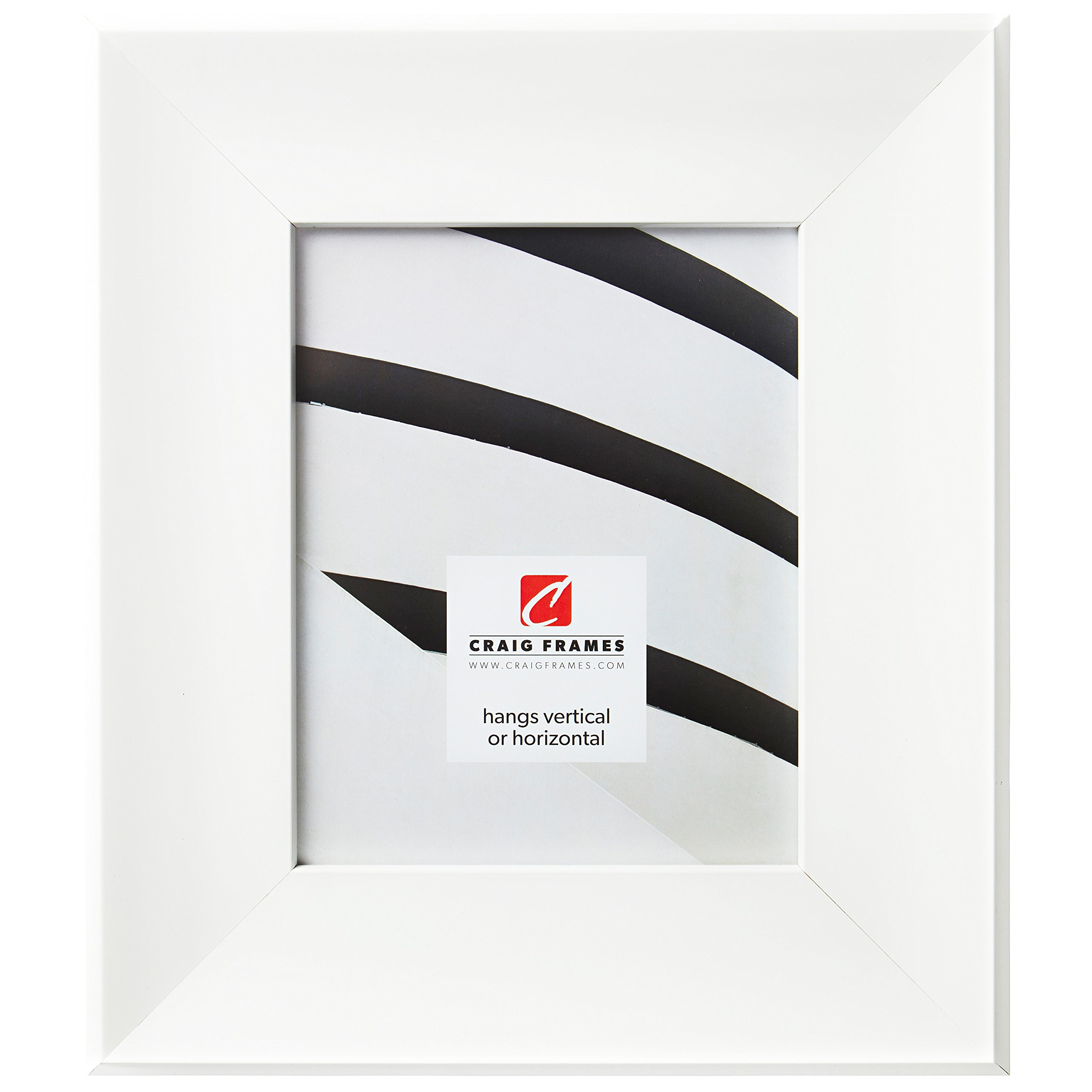 Craig Frames Roxy Picture Frame, 8 x 10 Inch, White