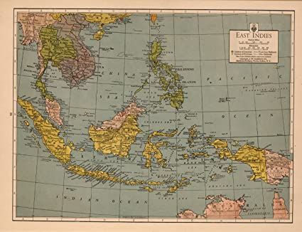 Amazon Com Map Poster East Indies 24 X18 5 Posters Prints
