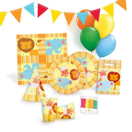 Amazon.com: Jungle Party Supplies Set para 12 – Fiesta de ...