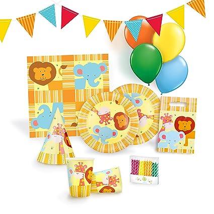 Amazon.com: Jungle Party Supplies Set para 12 – Fiesta de ...