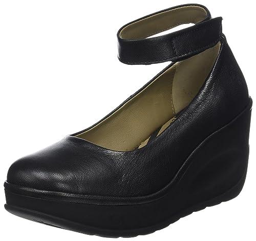 Jynx877fly, Zapatos con Tacon y Correa de Tobillo para Mujer, Plateado (Lead), 41 EU FLY London