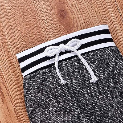 pantal/ón Conjunto de ropa para beb/é y ni/ña de manga larga con body cinta para la frente gorro para reci/én nacidos Geagodelia T-19829