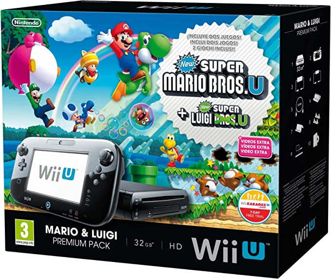 Nintendo Wii U - Consola Premium + Mario & Luigi: Amazon.es: Videojuegos