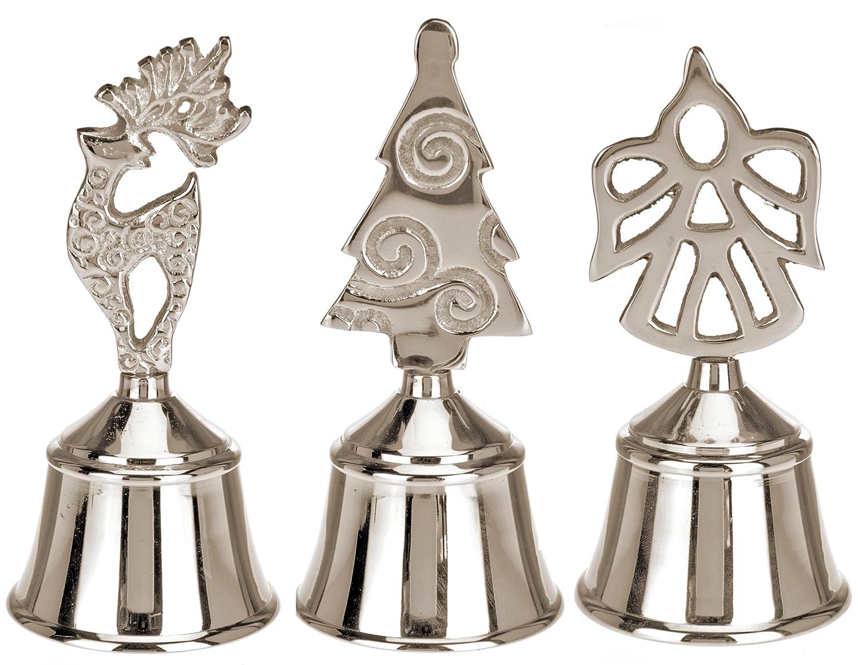 Tischglocke Rentier Silber Nostalgie Christkind Weihnachtsglocke Nikolaus