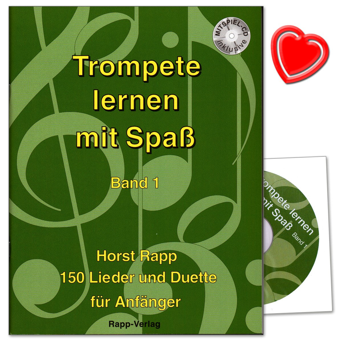 Trompete lernen mit Spaß Band 1 für Anfänger - 150 Lieder und Duette ...