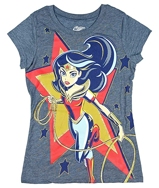 18d194ada DC Super Heroes Wonder Woman in Star Girls' Licensed Graphic T-Shirt