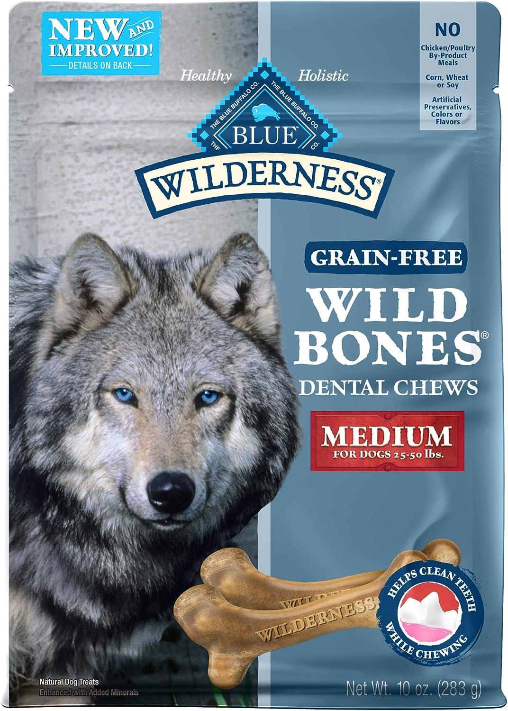 Blue Buffalo Wilderness Wild Bones Grain Free Dental Chews Dog Treats