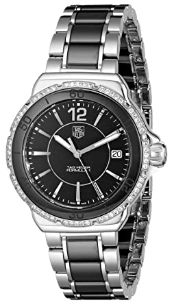 24bd38b954c Image Unavailable. Image not available for. Color: Tag Heuer Women's 'Formula  1' Black Diamond Dial Ceramic Watch ...