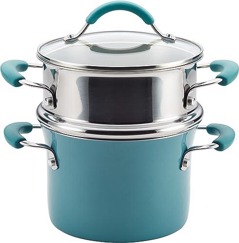 Rachael Ray Cucina Nonstick Sauce Pot with Steamer Insert Lid