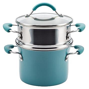 Rachael Ray Cucina Hard Porcelain Enamel Nonstick Multi Pot / Steamer Set,  3
