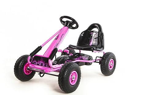 Karting a pedal Ricco Toys auto de carreras de juguete para niños con ruedas