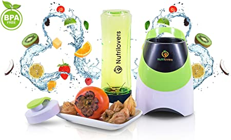 Nutrilovers - Mini Batidora de vaso, smoothie maker para ...