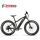 Fitifito FT26 Elektrofahrrad Fatbike E-Bike Pedelec, 36V 250W Heckmotor 36V 13Ah 468W Samsung Akku, Kenda 26x4,0 MTB Reifen