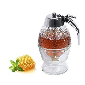 Dispensador, dispensador de miel, jarras, lanzador jarabe, jarra de leche 0,2 litros: Amazon.es: Hogar
