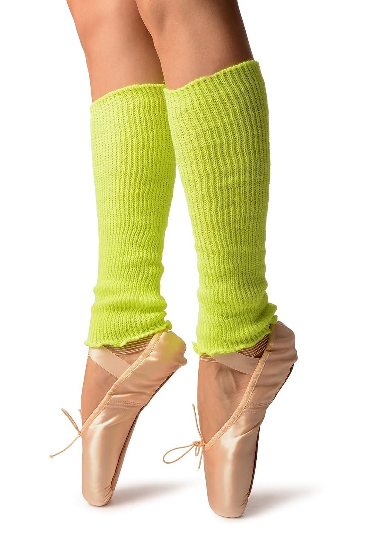 Neon Yellow Dance//Ballet Leg or Arm Warmers 37 cm Giallo Scaldamuscoli Taglia Unica