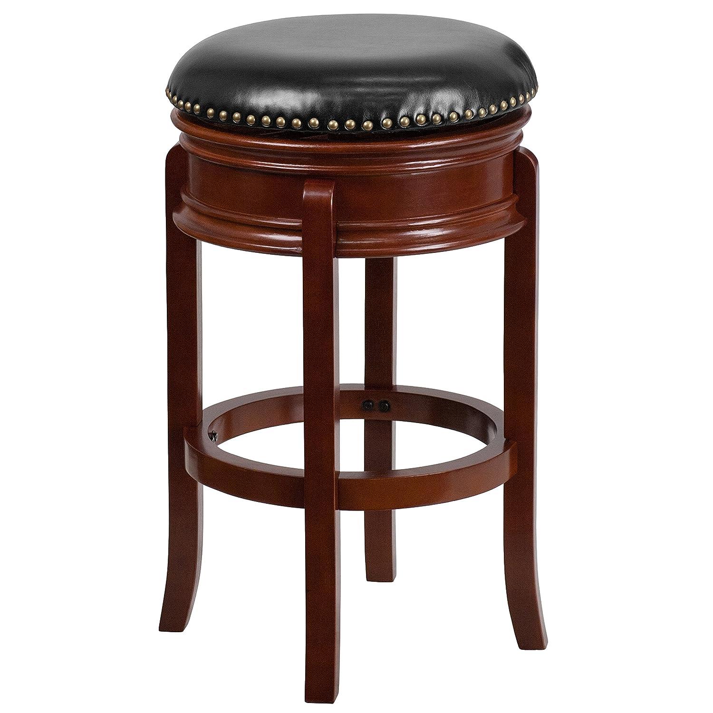 Flash Furniture 29u0027u0027 High Backless Cappuccino Wood Barstool with Black Leather Swivel Seat  sc 1 st  Amazon.com & Bar Stools | Amazon.com islam-shia.org