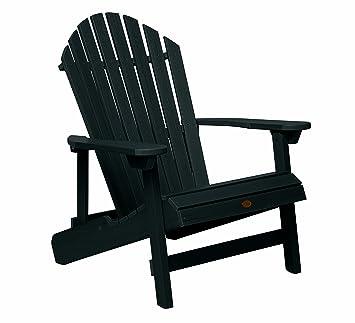 Highwood King Hamilton Folding And Reclining Adirondack Chair, Black