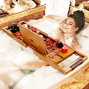Your Majesty Premium Bathtub Tray Bathtub Caddy Tray Bath Caddy Bath Table - Bath Shelf
