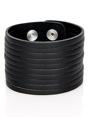 Lederarmband breit  Lederarmband Herren schwarz breit Leder Armband Herrenarmband ...