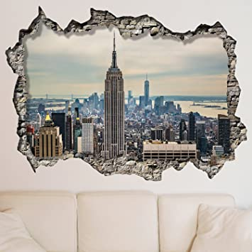 Walplus Wall Stickers New York Sunrise Mural Art Decals Vinyl Home  Decoration DIY Living Bedroom Office Part 86