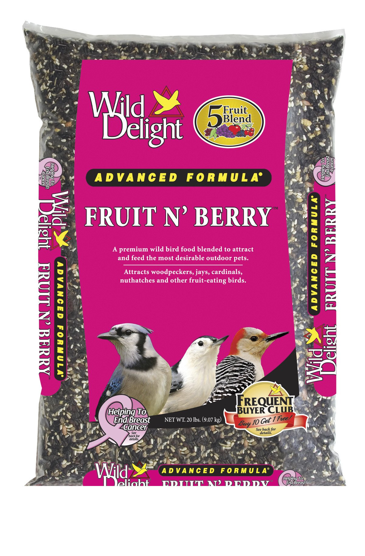 Wild Delight 365200 Fruit N' Berry Bird Food, 20 lb by Wild Delight