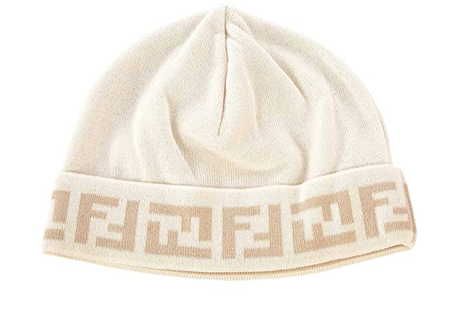 Fendi cuffia berretto uomo in lana originale beige  Amazon.it  Abbigliamento f41a40e8bbd8