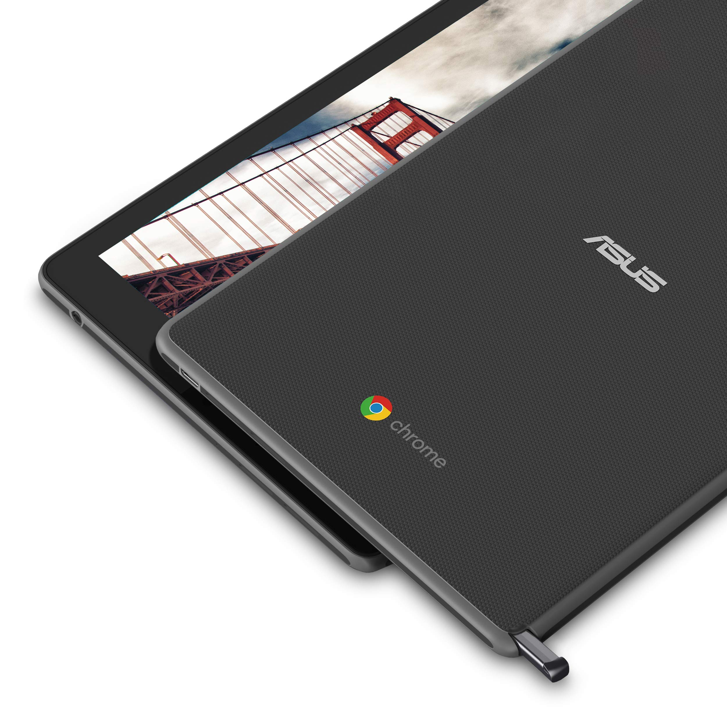 Asus Chromebook Tablet CT100, 9.7'' Qxga (1536x2048) Touchscreen, OP1 Hexa-core Processor, 4GB RAM, 32GB eMMC Storage, Rugged Military-Spec 810G, Dark Grey, K-12, Chrome OS, Includes Stylus, CT100PA-YS by ASUS (Image #2)