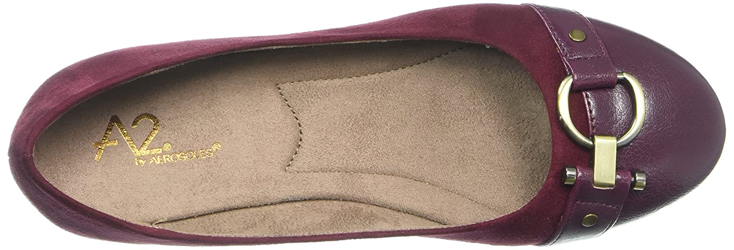 Aerosoles A2 by Women's Ultrabrite Ballet Flat B01DBDUJLW 10 B(M) US|Wine Fabric
