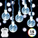 DecorNova 9.8 Foot 15 LED Globe String Lights
