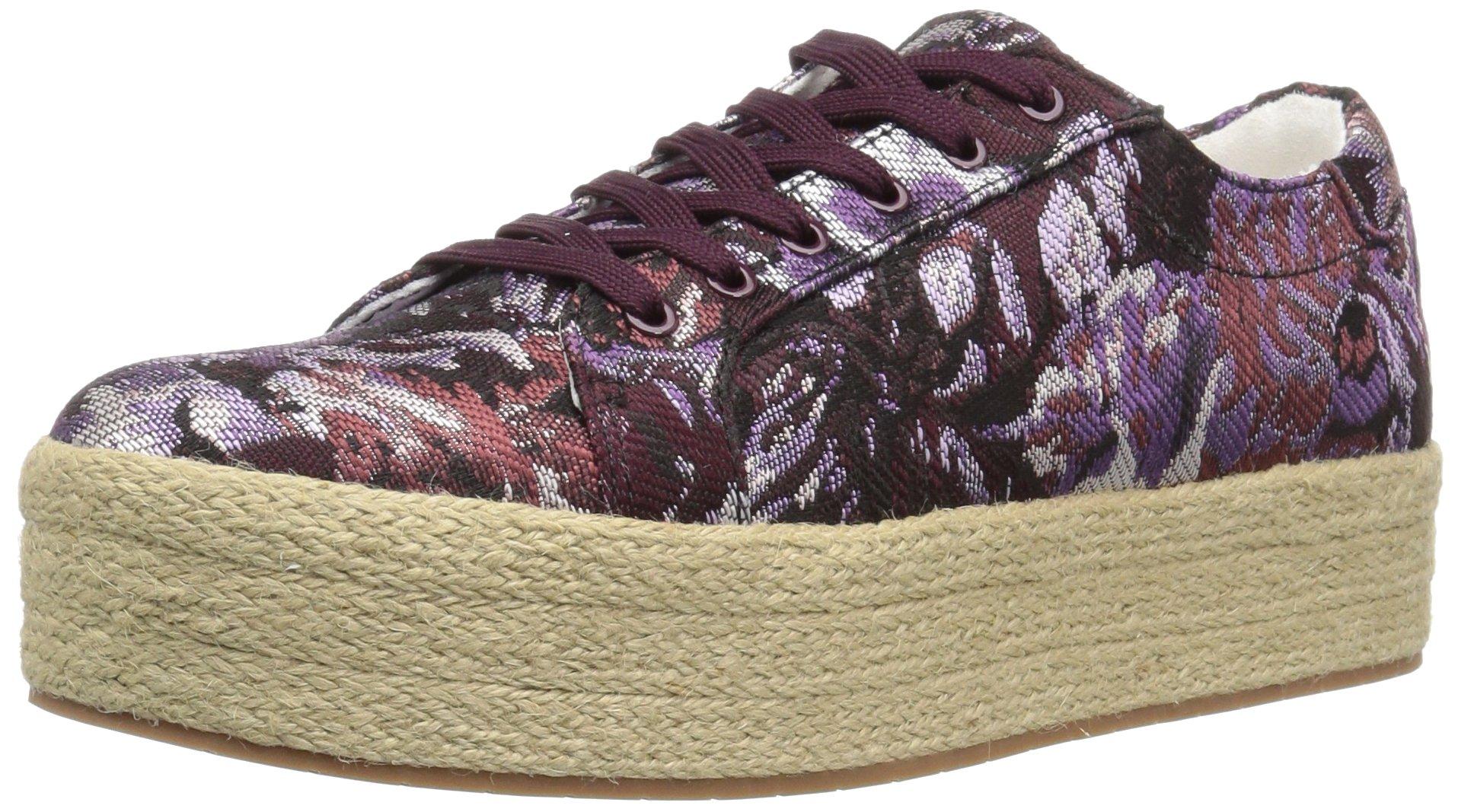 Kenneth Cole New York Women's Allyson Platform Lace up Jute Wrap-Techni-Cole Sneaker, Purple/Multi, 10 Medium US