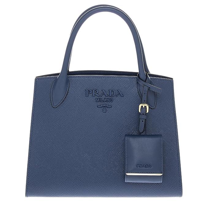 d362417e19e298 Prada Women's Monochrome Saffiano Leather Bag Navy Blue: Amazon.ca:  Clothing & Accessories