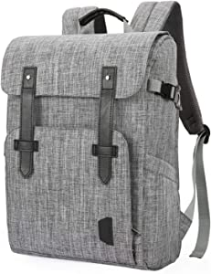 BAGSMART Camera Backpack Anti-Theft DSLR SLR Camera Bag Fit up to 15 '' Laptop with Waterproof Rain Cover Tripod Holder, Grey